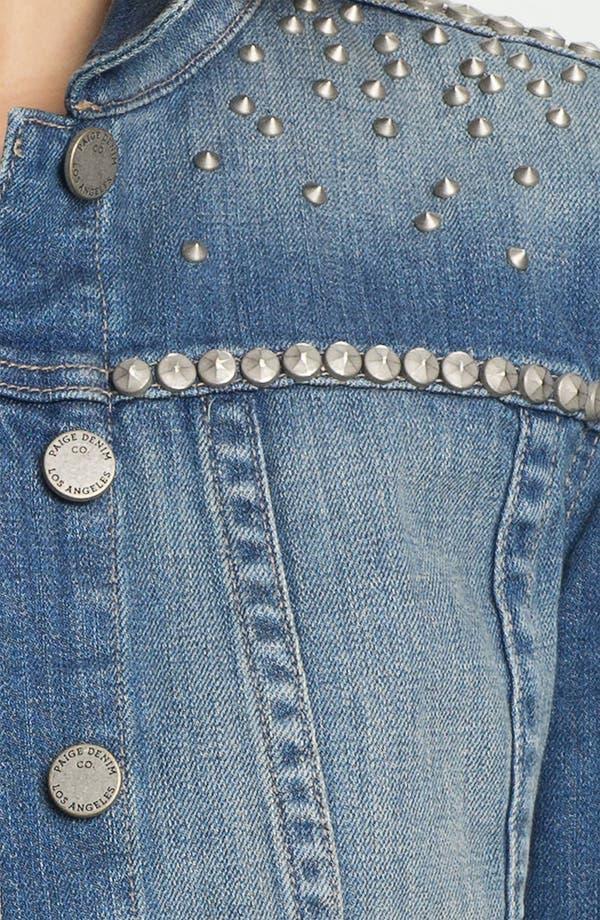 Alternate Image 3  - Paige Denim 'Colbie' Studded Denim Jacket