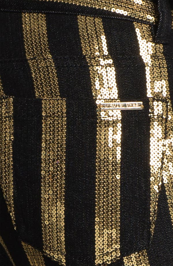 Alternate Image 3  - MICHAEL Michael Kors Sequin Stripe Jeans