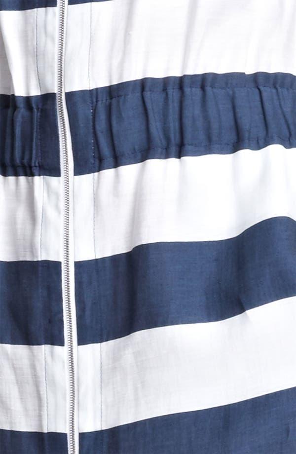 Alternate Image 3  - Armani Collezioni Stripe Zip Front Dress