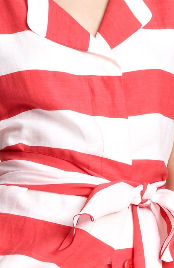 Alternate Image 3  - Armani Collezioni Belted Stripe Linen Blend Dress