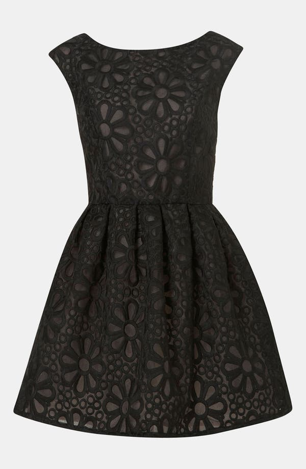 Alternate Image 1 Selected - Topshop Embroidered Organza Party Dress
