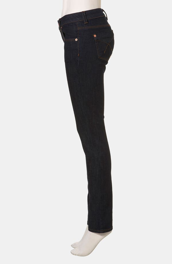 Alternate Image 4  - Topshop Moto 'Baxter' Skinny Jeans (Indigo) (Petite)