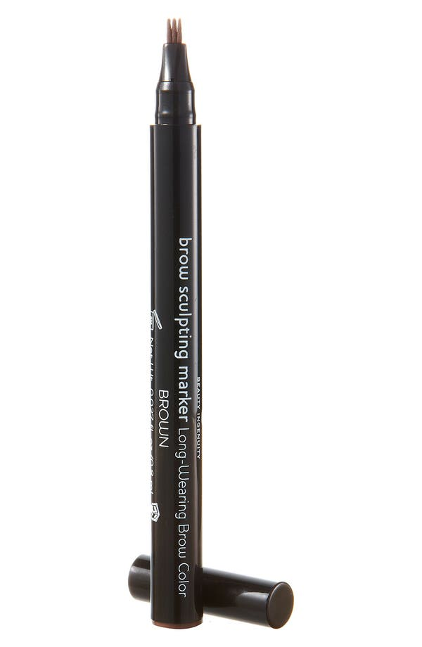 Brow Sculpting Marker,                             Main thumbnail 1, color,                             Brown