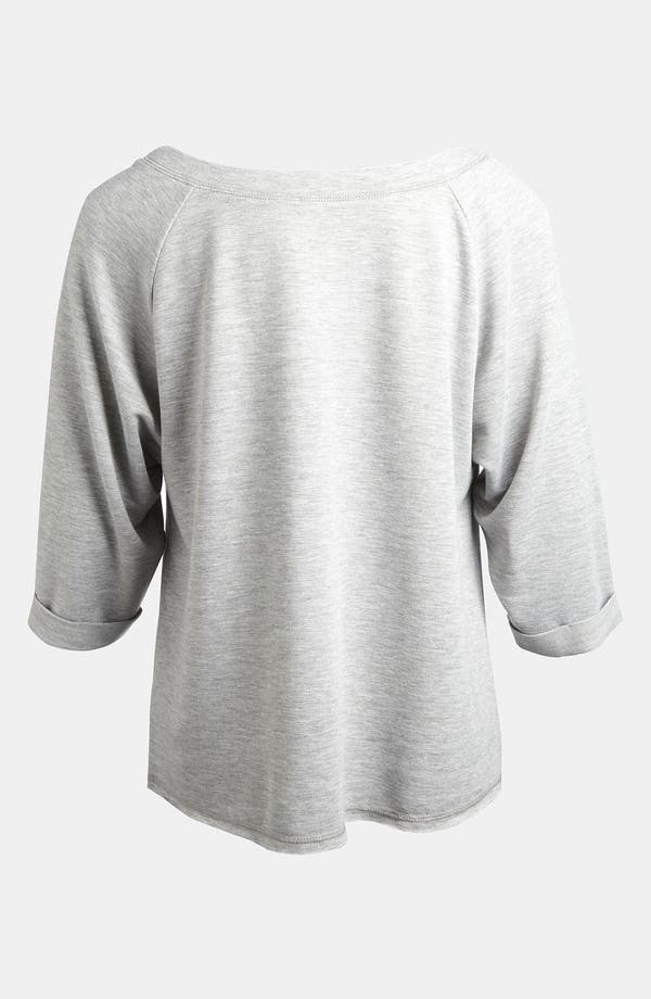 Alternate Image 2  - LMK Metallic Raglan Sleeve Top