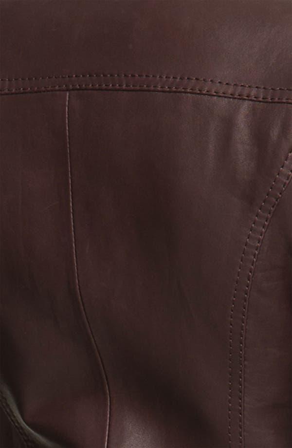 Alternate Image 3  - MICHAEL Michael Kors Leather Scuba Jacket (Petite)