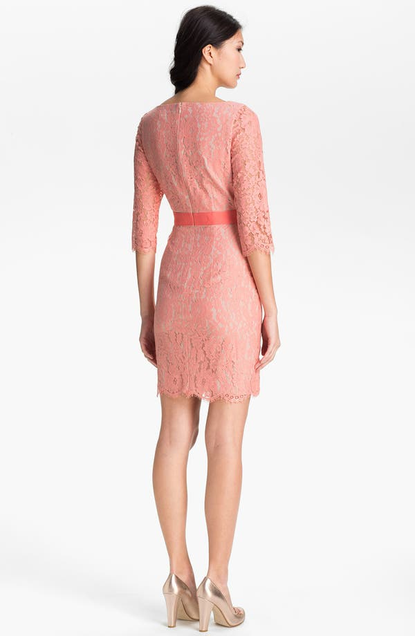 Alternate Image 2  - Eliza J Boatneck Lace Sheath Dress