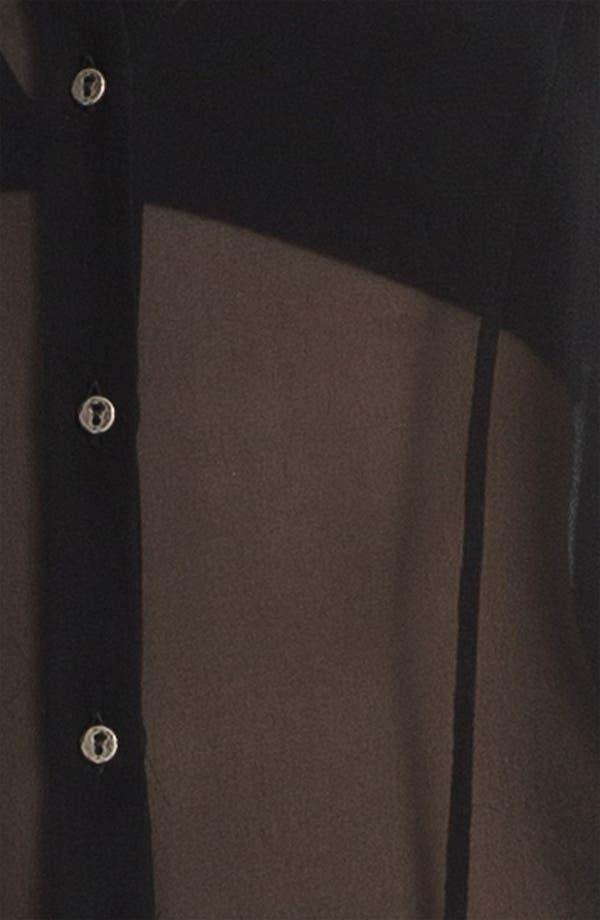 Alternate Image 5  - HELMUT Helmut Lang 'Ghost Silk' Button Front Top