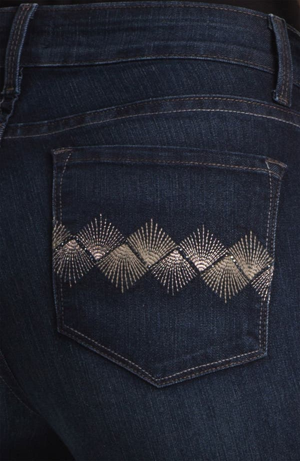 Alternate Image 3  - NYDJ 'Barbara' Embellished Bootcut Jeans (Petite)