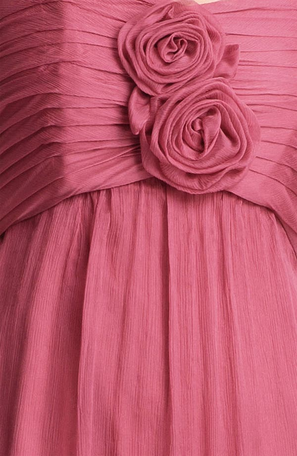 Alternate Image 3  - Amsale Strapless Rosette Detail Silk Chiffon Dress