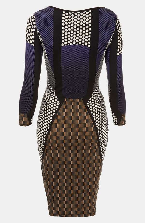 Alternate Image 2  - Topshop 'Geo Spot' Print Body-Con Dress