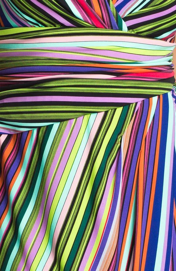 Alternate Image 3  - Suzi Chin for Maggy Boutique Stripe Jersey Faux Wrap Dress (Plus Size)