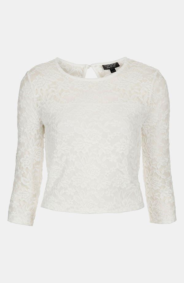 Main Image - Topshop Lace Crop Top