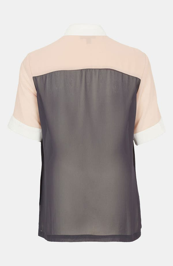 Alternate Image 2  - Topshop Colorblock Chiffon Shirt
