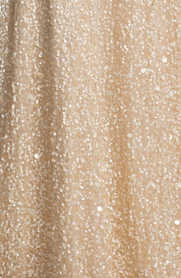 Alternate Image 3  - Adrianna Papell Sequin Coated Blouson Mesh Gown