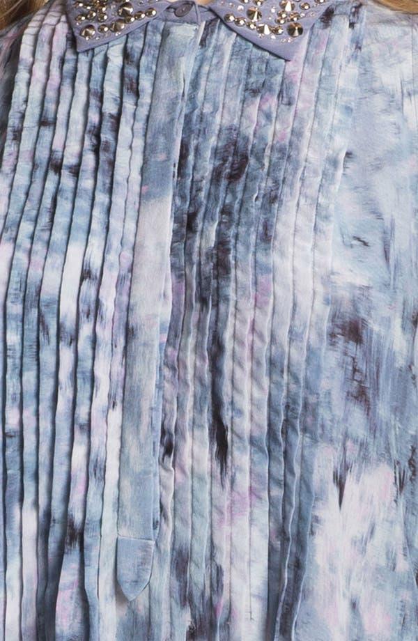 Alternate Image 3  - Rebecca Taylor Pintuck Silk Shirtdress