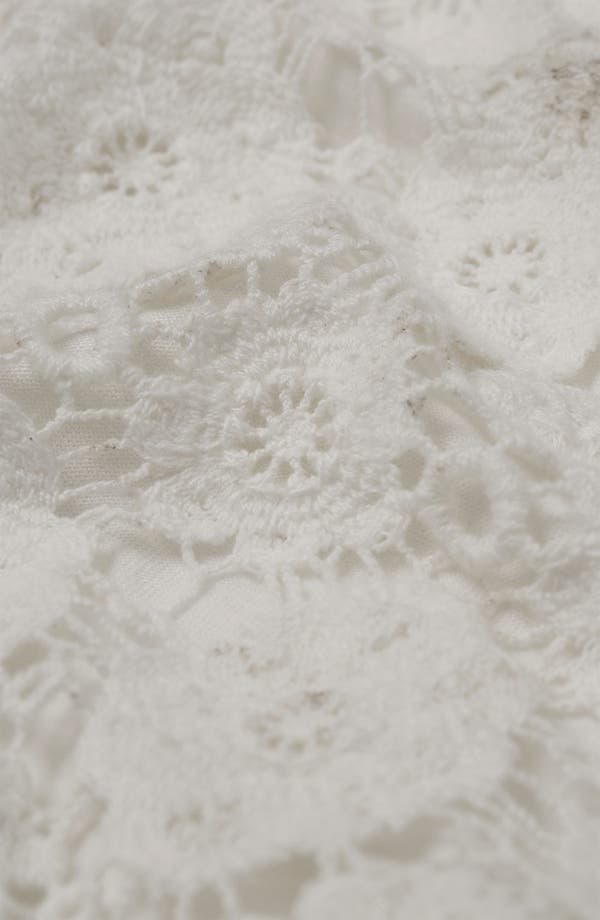 Alternate Image 3  - Topshop Crop Doily Lace Top
