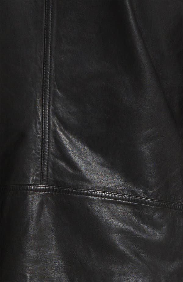 Alternate Image 3  - La Marque Lambskin Leather Convertible Jacket