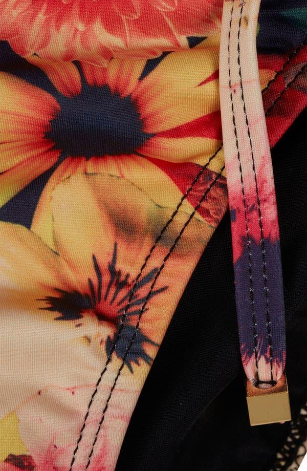 Alternate Image 3  - Topshop 'Bouquet' Digital Print Side Tie Bikini Bottoms