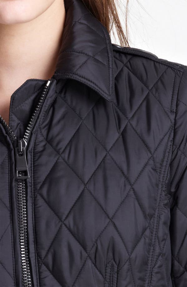 'Ivymoore' Quilted Zip Jacket,                             Alternate thumbnail 3, color,                             Black