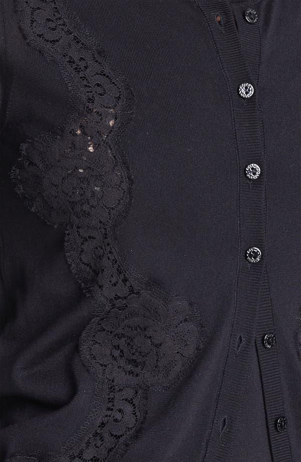 Alternate Image 3  - Dolce&Gabbana Lace Detail Silk Cardigan