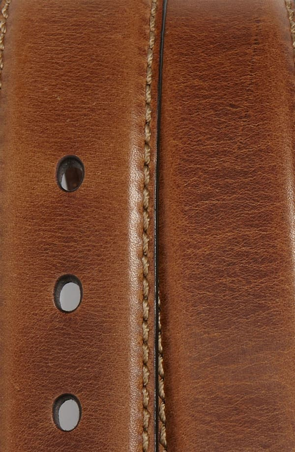 'Aiden' Leather Belt,                             Alternate thumbnail 2, color,                             Brown