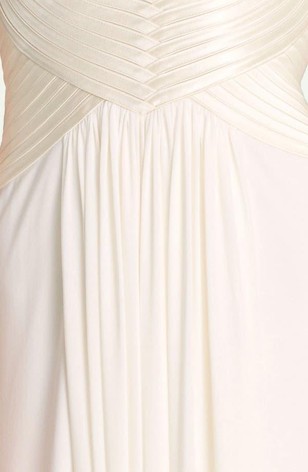 Alternate Image 3  - BCBGMAXAZRIA 'Anitra' Satin & Jersey Halter Gown