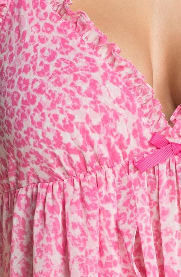 Alternate Image 3  - Oscar de la Renta Sleepwear Ruffle Georgette Chemise