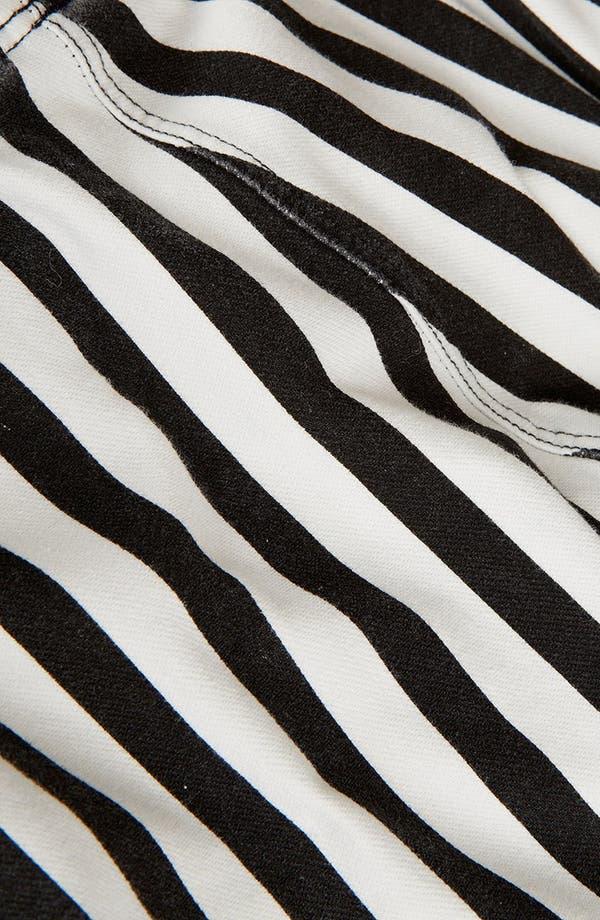 Alternate Image 4  - Topshop Mod Stripe Denim Leggings