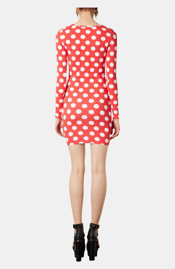 Alternate Image 3  - Topshop Polka Dot Body-Con Dress