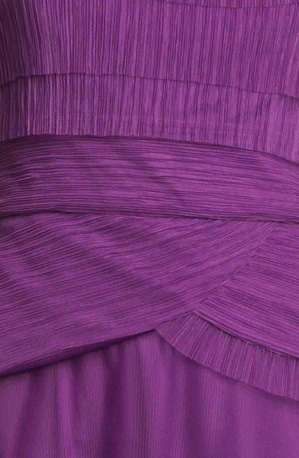 Alternate Image 3  - Patra Pleated Cap Sleeve Gown
