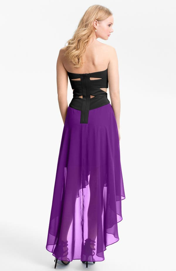 Alternate Image 2  - Hailey by Adrianna Papell Strapless High/Low Dress (Online Only)