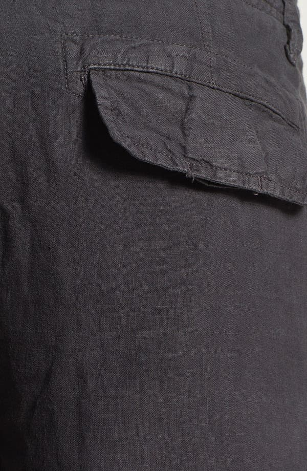 Alternate Image 3  - Lucky Brand 'Long Beach' Linen Cargo Shorts