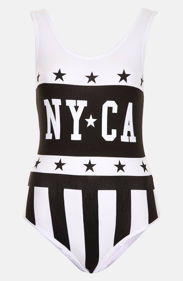 Alternate Image 1 Selected - Topshop 'NY-CA' Tank Bodysuit