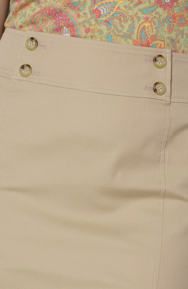 Alternate Image 4  - Lauren Ralph Lauren Button Detail Straight Skirt (Plus Size)
