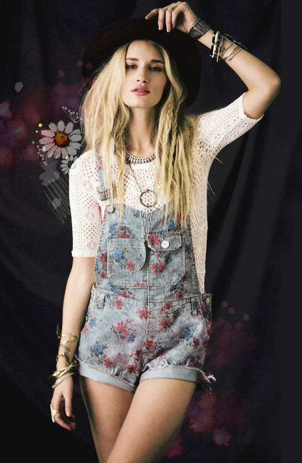 Alternate Image 1 Selected - Free People Shortalls & Top