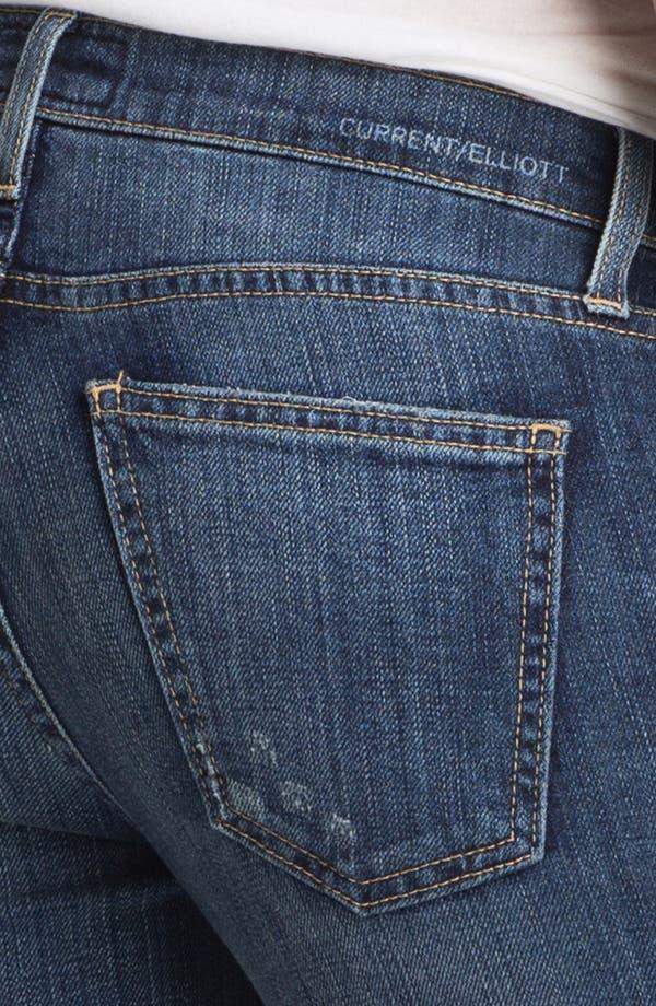 Alternate Image 4  - Current/Elliott 'The Ankle' Skinny Jeans (Loved)