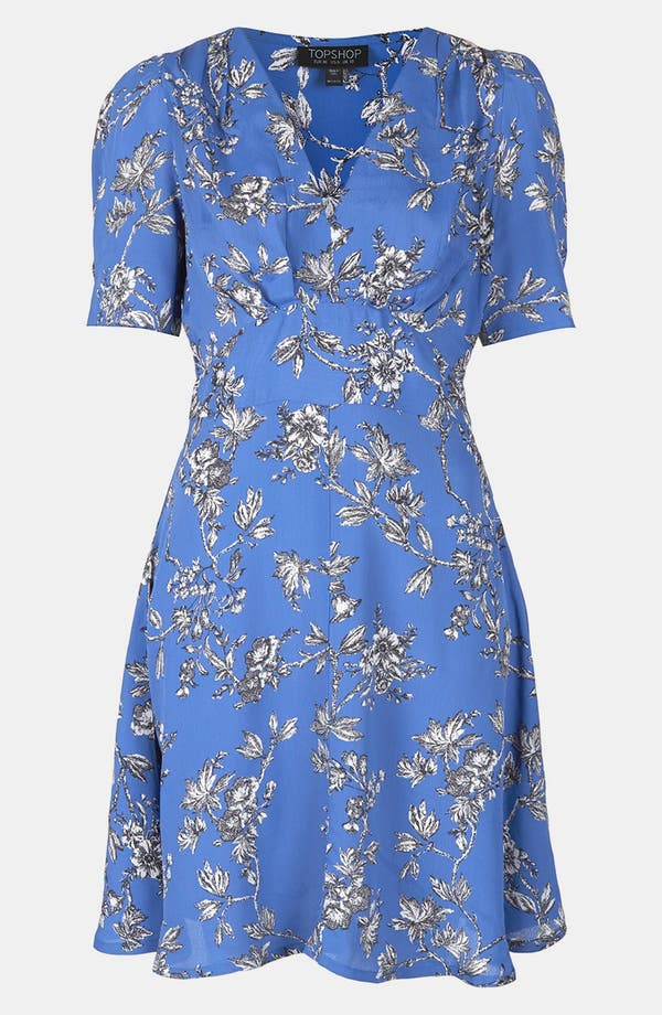 Alternate Image 3  - Topshop Floral Branch Tea Dress