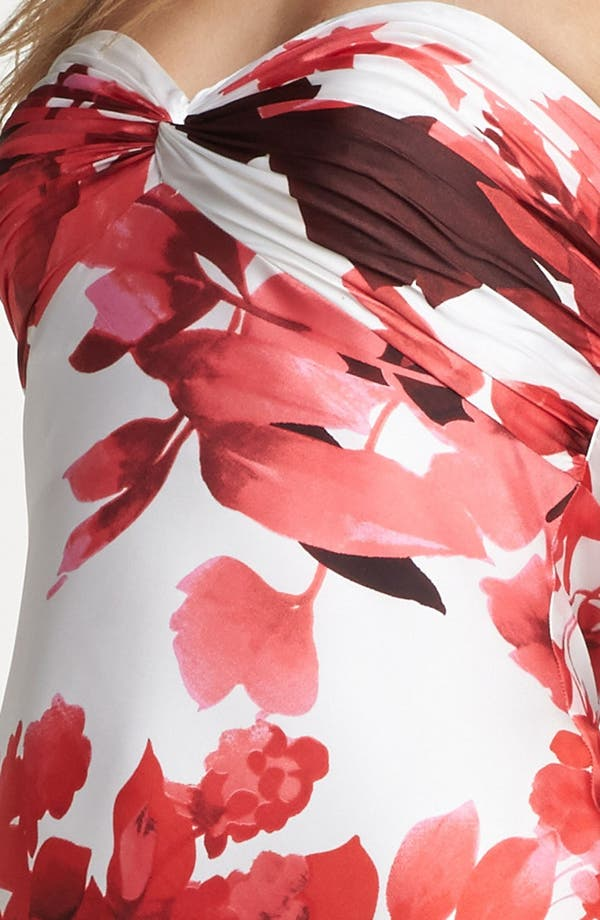 Alternate Image 3  - Adrianna Papell Front Twist Floral Print Gown