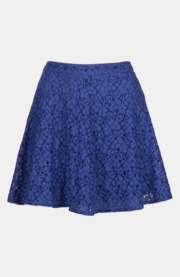 Alternate Image 3  - Topshop Lace Skater Skirt