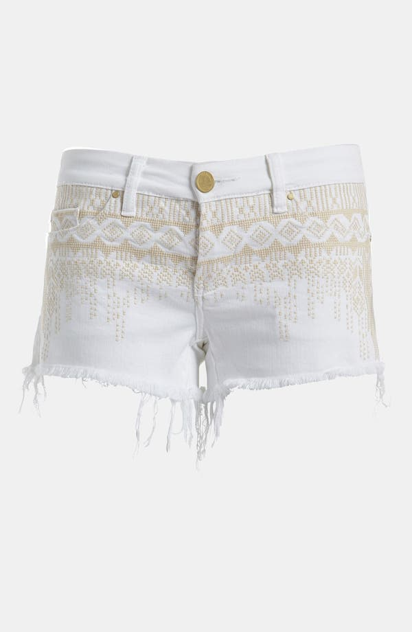Main Image - BLANKNYC 'The Little Queenie' Embroidered Cutoff Shorts