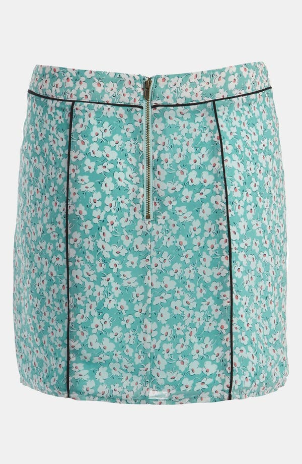 Alternate Image 3  - Lucca Couture Piped Floral Print Skirt
