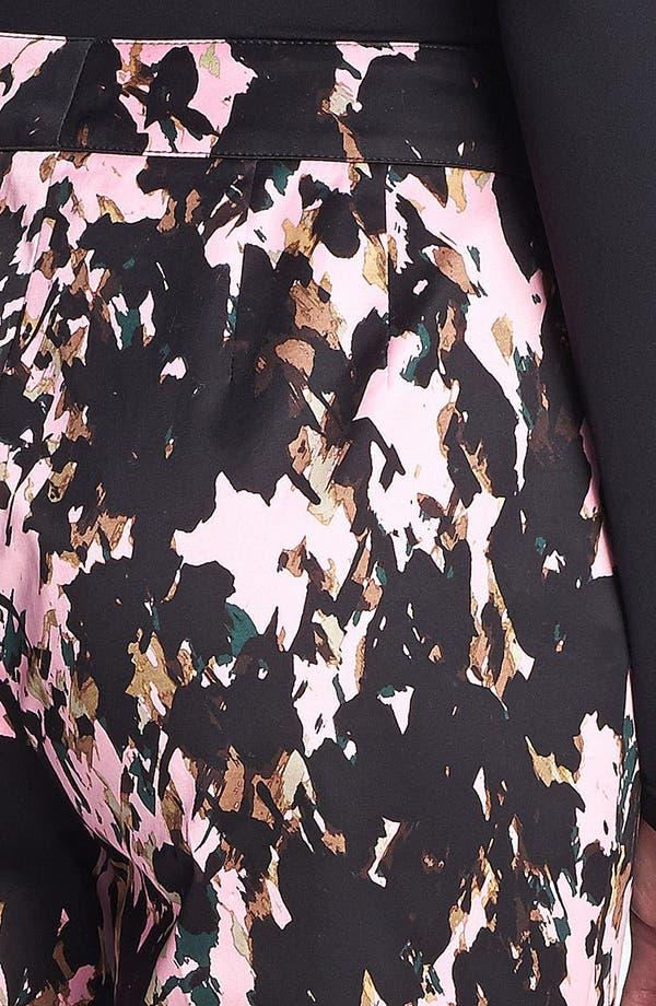 Alternate Image 3  - St. John Collection 'Emma Longe' Abstract Print Stretch Sateen Pants