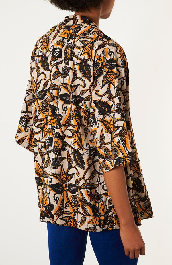 Alternate Image 2  - Topshop Batik Print Kimono Jacket