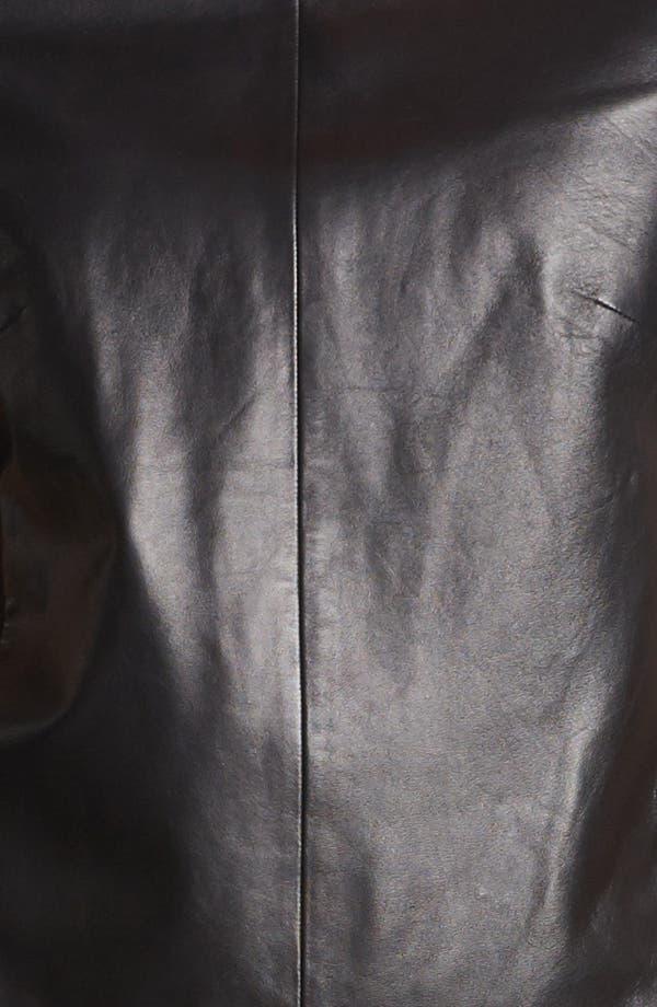 Alternate Image 3  - Halogen® Leather Front Top (Regular & Petite) (Online Only)