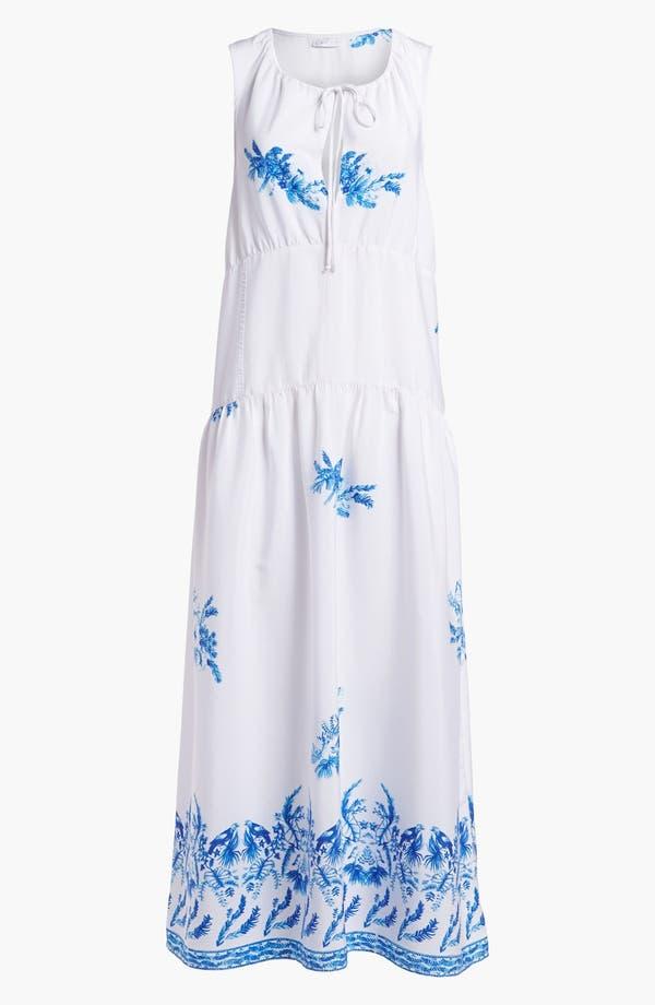 Main Image - Leith Sheer Print Slip Maxi Dress