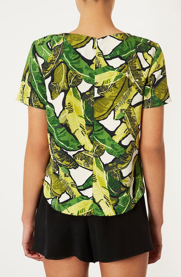 Alternate Image 2  - Topshop Banana Leaf Print Top