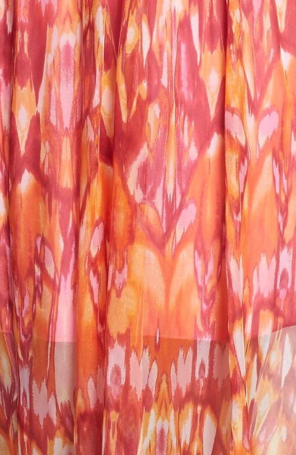Alternate Image 3  - Laundry by Shelli Segal 'Sun Shadow' Print Halter Dress