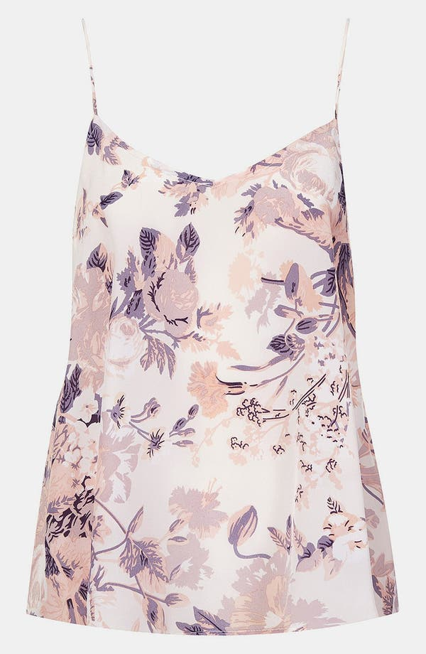 Alternate Image 1 Selected - Topshop Floral Silk Camisole
