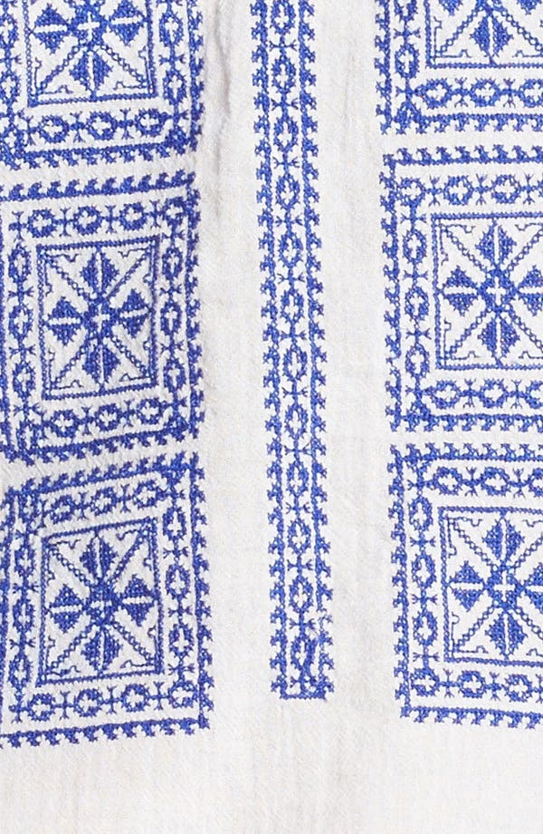 'Adele' Peasant Blouse,                             Alternate thumbnail 3, color,                             Milk/ Blue