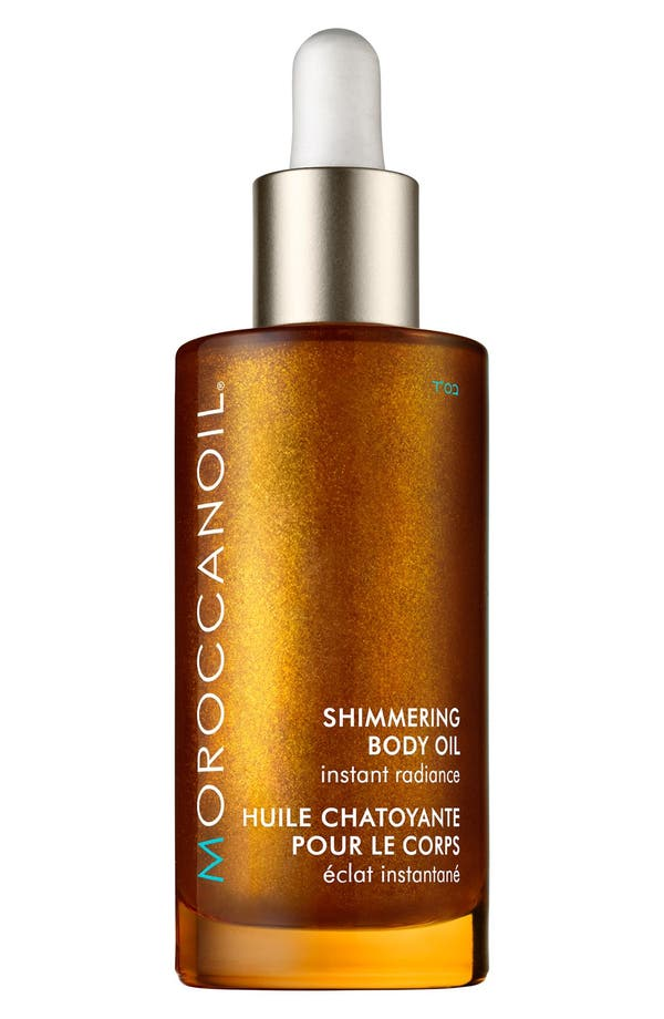 'Instant Radiance' Shimmering Body Oil,                             Main thumbnail 1, color,                             No Color